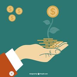 Finanças vector ilustração do conceito