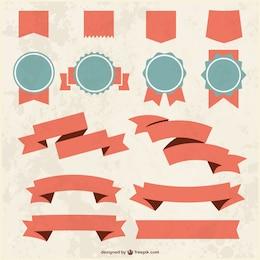 Fitas e emblemas grunge texturizada