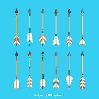 Flechas indígenas nativas