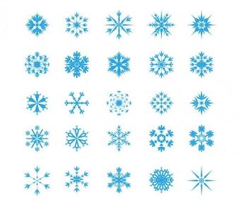 Floco de neve conjunto de ícones