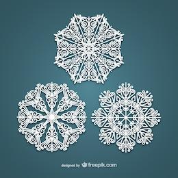 Flocos de neve brancos elegantes
