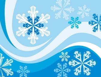 flocos de neve vector fundo inverno