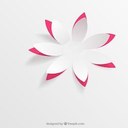 Flor de papel em pop up estilo