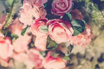 Flora natural das flores coloridas do amor