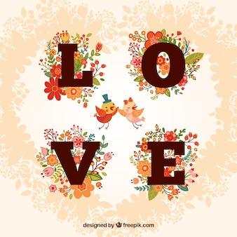 Cartão floral do amor