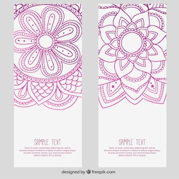 Flores abstratas banners