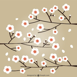 Flores de cereja ilustração