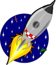 foguete cartoon