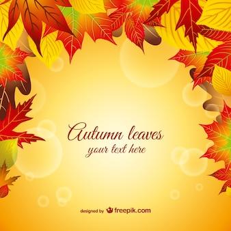 folhas de outono gráfico vetorial