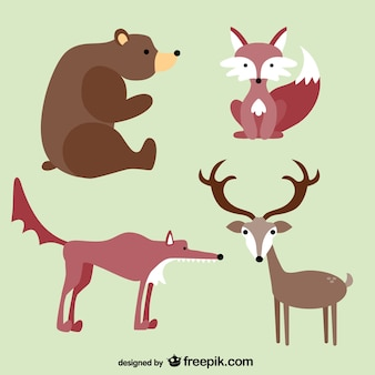 Animais da floresta desenhos animados