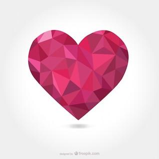 Forma de coração vetor triangular