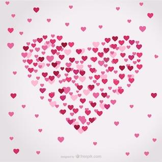 Forma de coração vetor