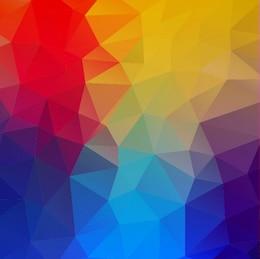 Formas geométricas coloridas fundo abstrato