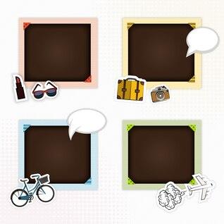 Frames de retrato para o scrapbook