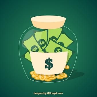 Frasco do dinheiro