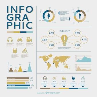 Livre gráficos vetoriais infográfico