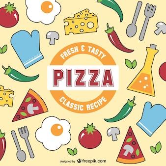 Fresca e saborosa pizza vector