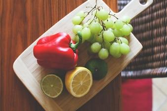 Comida fresca e saudável