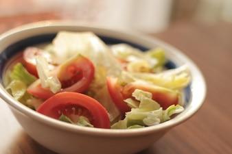 Salada fresca e saudável
