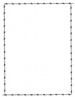 fronteira de arame farpado