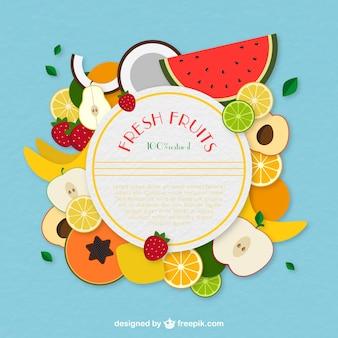 Frutas frescas rótulo