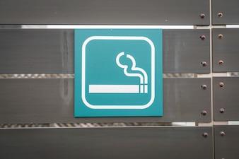 Fumar Sinal da área.