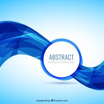 Fundo abstrato da onda em cores azuis