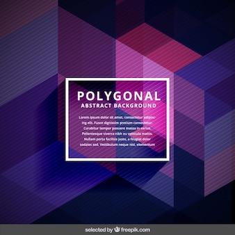 Fundo abstrato moderno poligonal