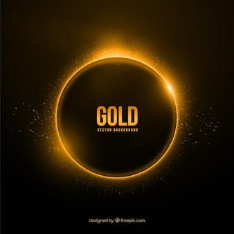 Fundo anel de ouro