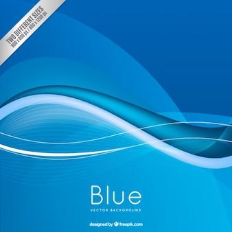 Fundo azul no estilo abstrato