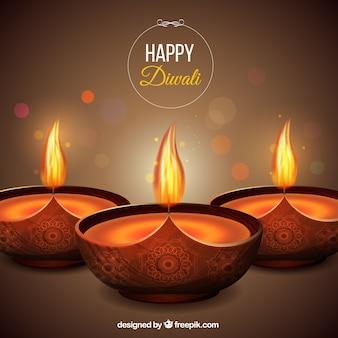 Fundo bokeh Diwali