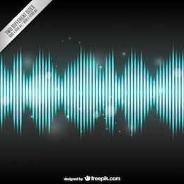 Fundo brilhante onda de áudio