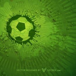 Fundo com bola de futebol