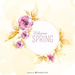 Fundo da aguarela para a Primavera