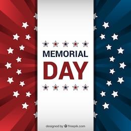Fundo da bandeira americana para o Memorial Day