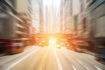 Fundo da estrada urbana