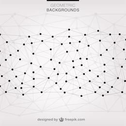 Fundo da rede triângulos vetor
