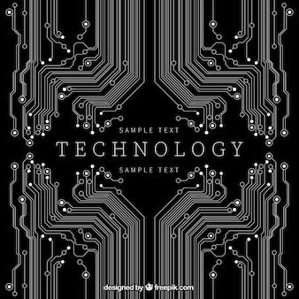 Fundo da tecnologia na cor preta