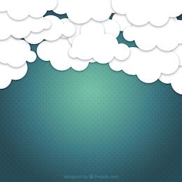 Fundo de céu nublado