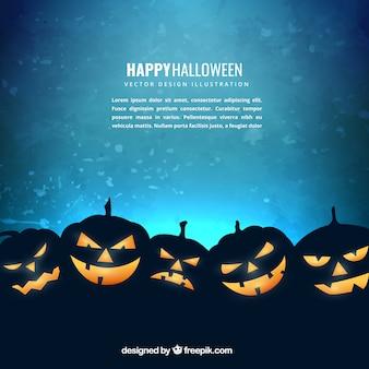 Fundo de Halloween abóbora