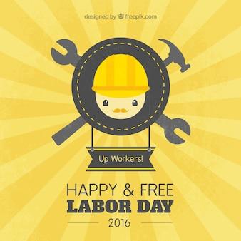 Fundo do dia do trabalho feliz