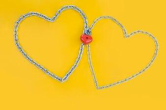 Fundo do evento conectado cartão romântico
