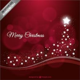 Fundo do Feliz Natal com estrelas