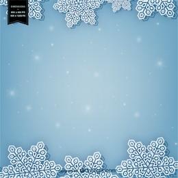 Fundo do inverno com flocos de neve brancos