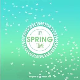 Fundo do tempo de Primavera