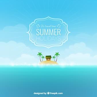 Fundo do tempo de viagem para o verão