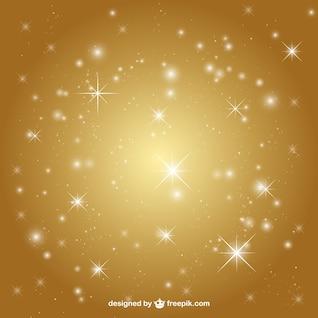 Fundo dourado com estrelas