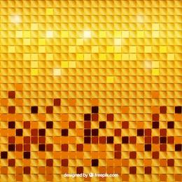 Fundo dourado do mosaico