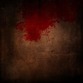 Fundo escuro estilo grunge com respingos de sangue