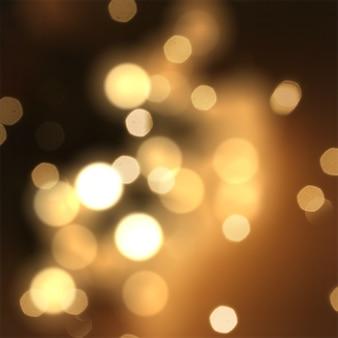 Fundo faísca do Natal com estrelas e luzes do bokeh